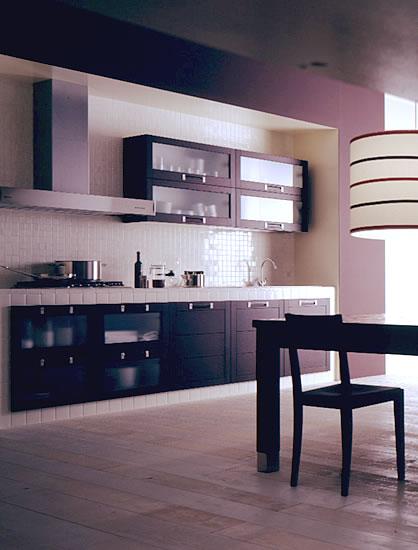 Cucina in mattoni carrelli cucina legno cucina in - Immagini cucine moderne ...