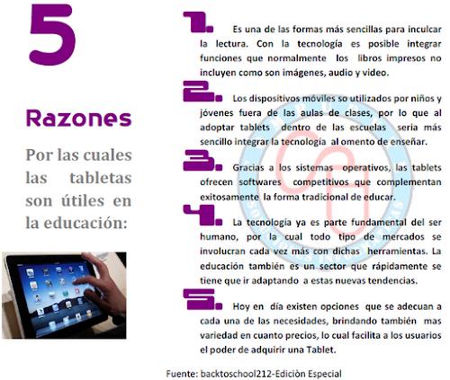 5 Razones para usar Tablets