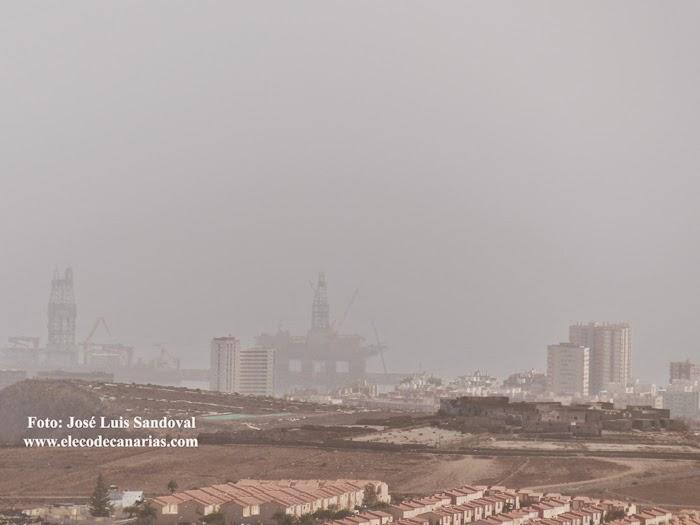 fotos calima las palmas de Gran canaria octubre 2014