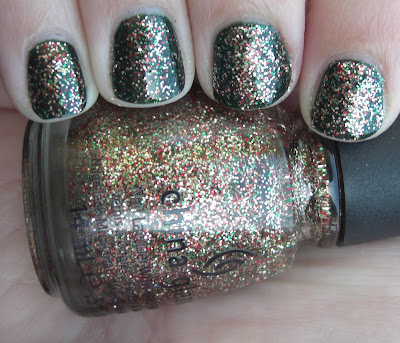 China Glaze Twinkle Lights over China Glaze Glittering Garland