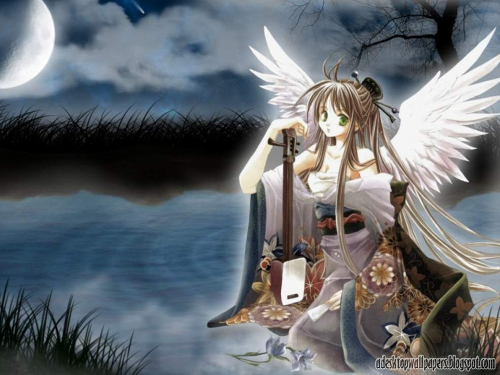 beautiful angel anime desktop wallpapers