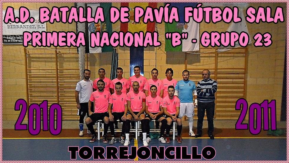 A.D. BATALLA DE PAVÍA TORREJONCILLO FÚTBOL SALA 2010/2011