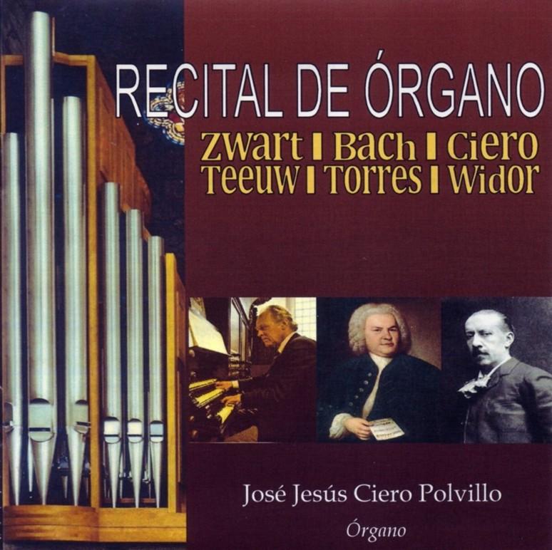 CD: Recital de órgano. Sello: Ad Libitum Studio. Conservatorio Profesional de Música de Huelva.
