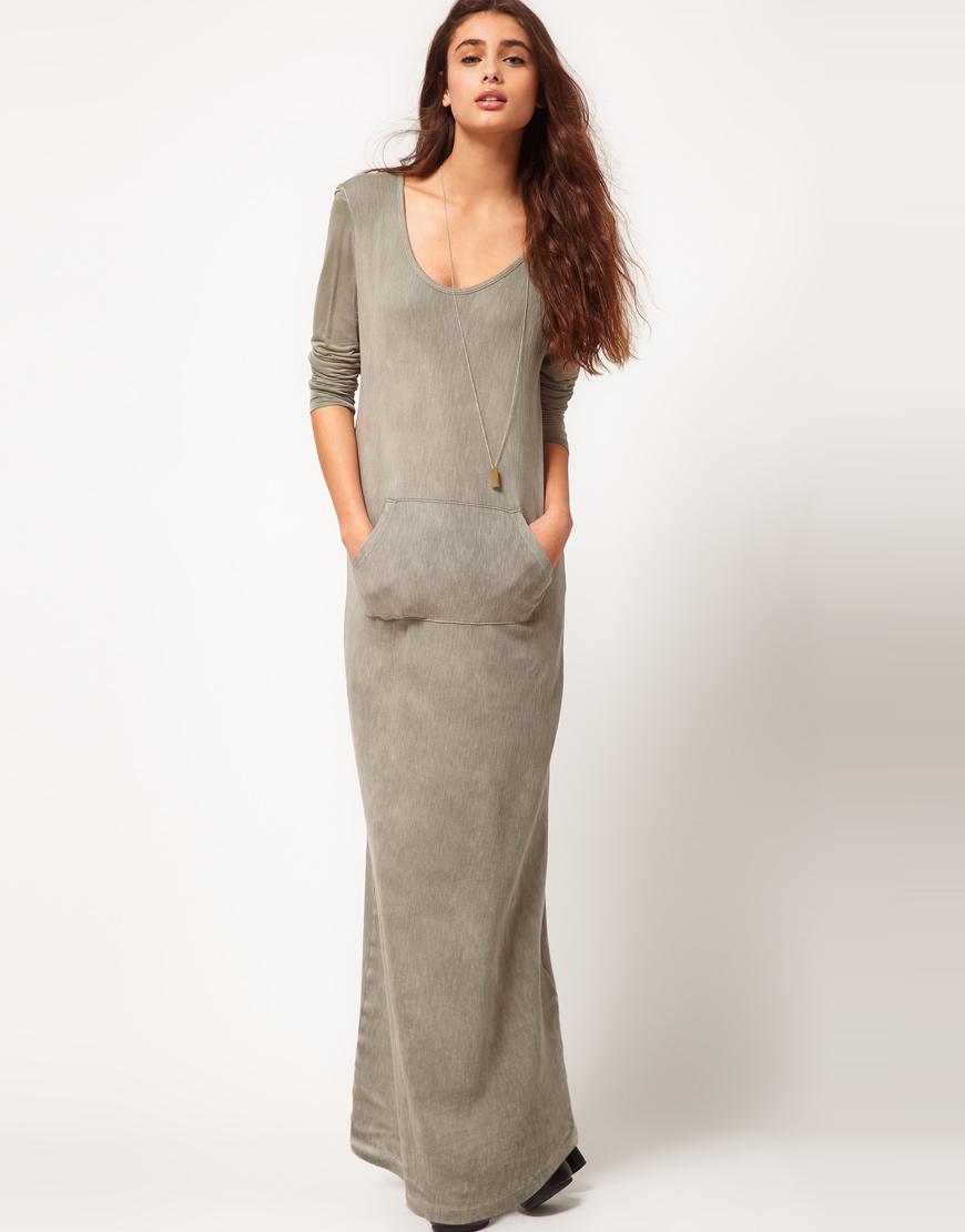 Фото длинных трикотажных платьев