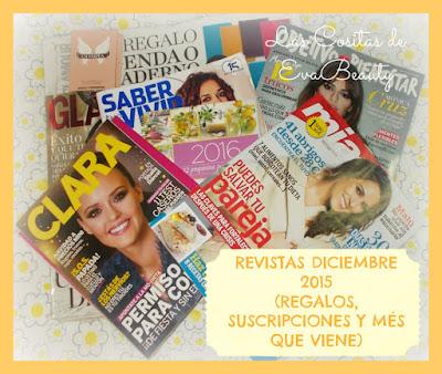 Revistas Diciembre 2015 (Regalos, Suscripciones y més que viene)