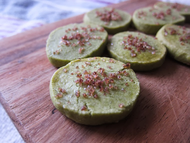 the indolent cook: matcha green tea shortbread with ...