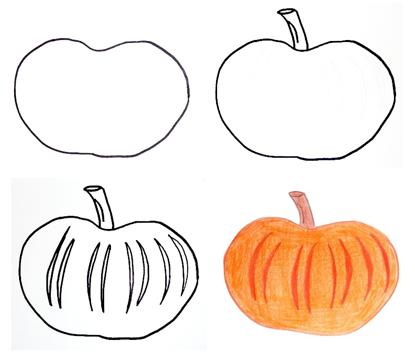 Pippi 39 s blog halloween drawings for kids for Funny pumpkin drawings