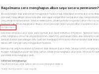 Cara menghapus akun facebook secara permanaen