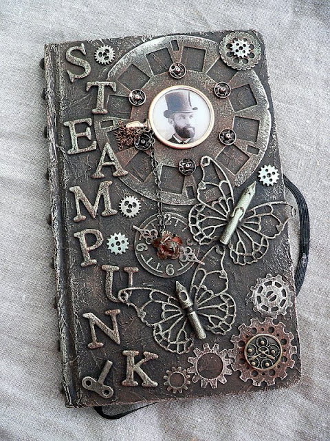 Steampunk Book Cover Diy : Von pappe ii steampunk notes and a swap