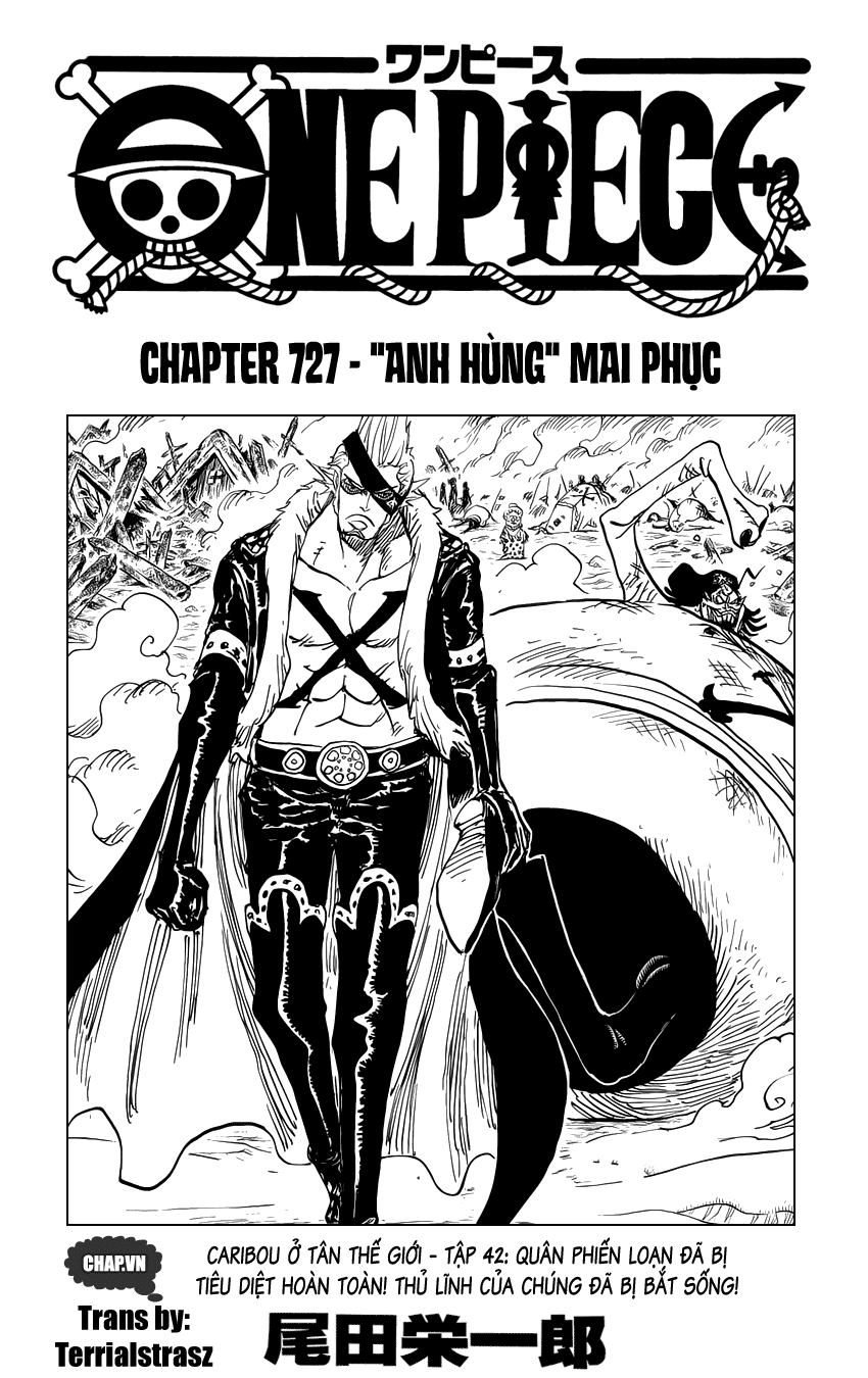 """One Piece Chapter 727: """"Anh hùng"""" mai phục 001"""