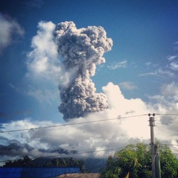 Mayon Volcano Explosion and Eruption