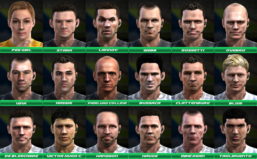 PES 2013 Referees Evolution Classic II [Faces - Boots] Full HD by