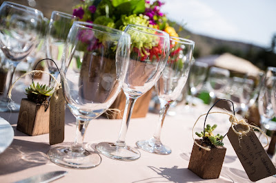 DIY mini succulents were given to each guest as a favor l River School Farm l Jeramie Lu Photography l Take the Cake Event Planning