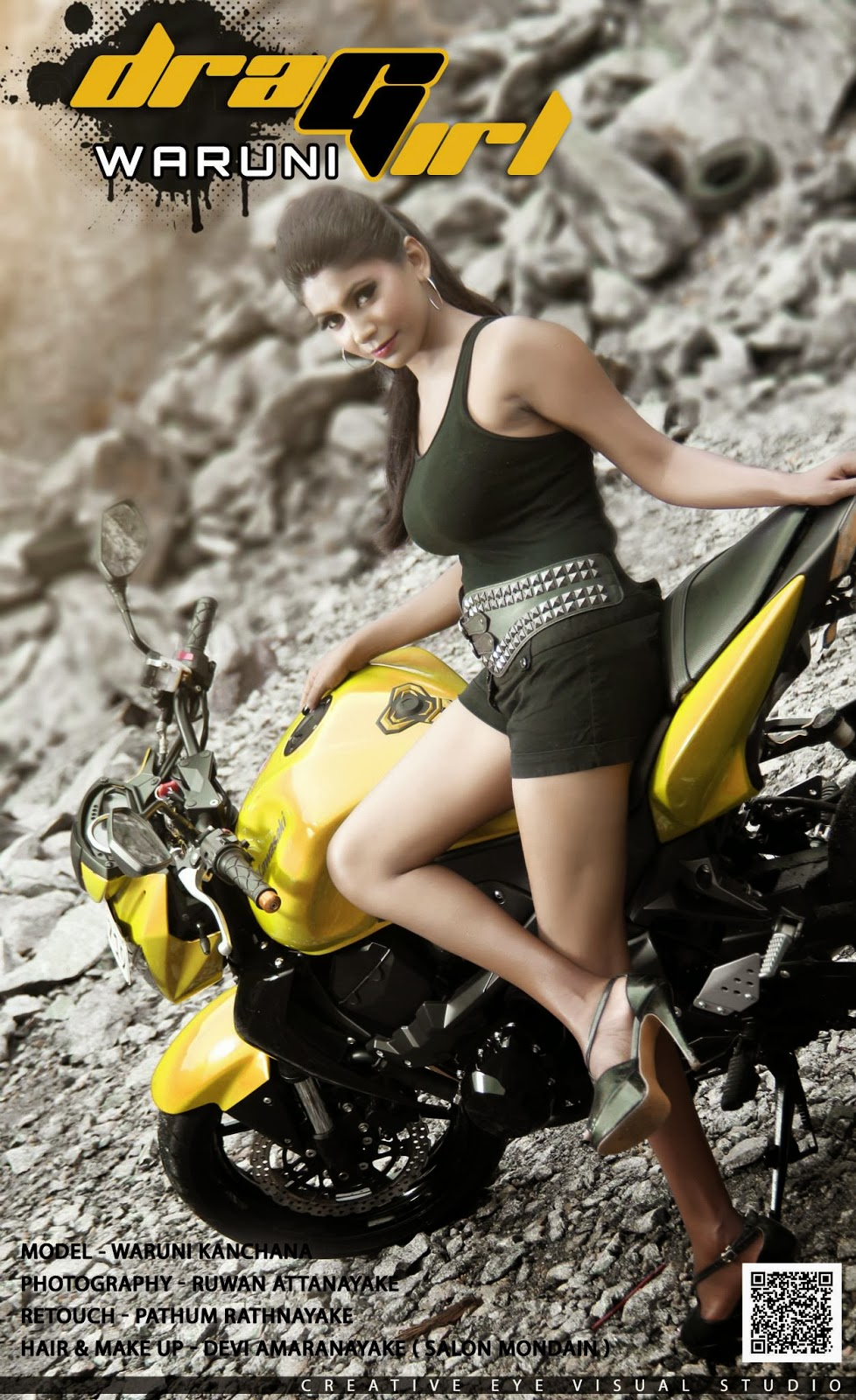 Waruni Kanchana hot bike