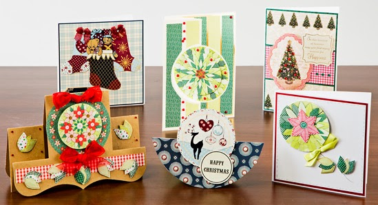 Kanban Nordic Winter and Evergreen Christmas Twist paper craft collections