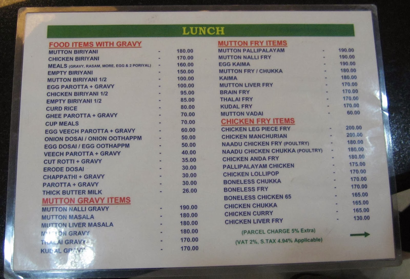 Tigers experience tigers experience at junior kuppanna for Jr fish and chicken menu