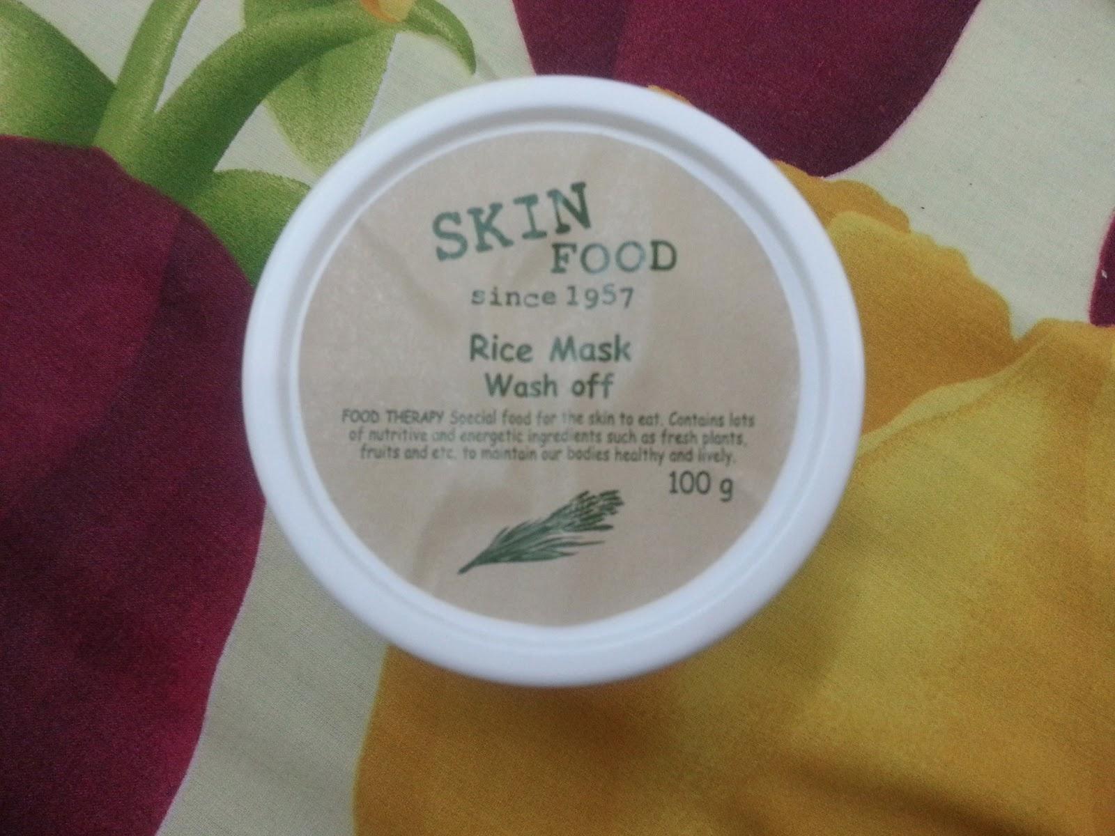 FASHION, LIFE, AND BEAUTY: SKIN FOOD Rice Mask Wash Off