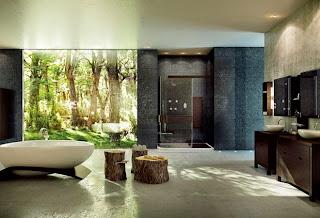 Desain Kamar Mandi Minimalis Konsep Batu Alam