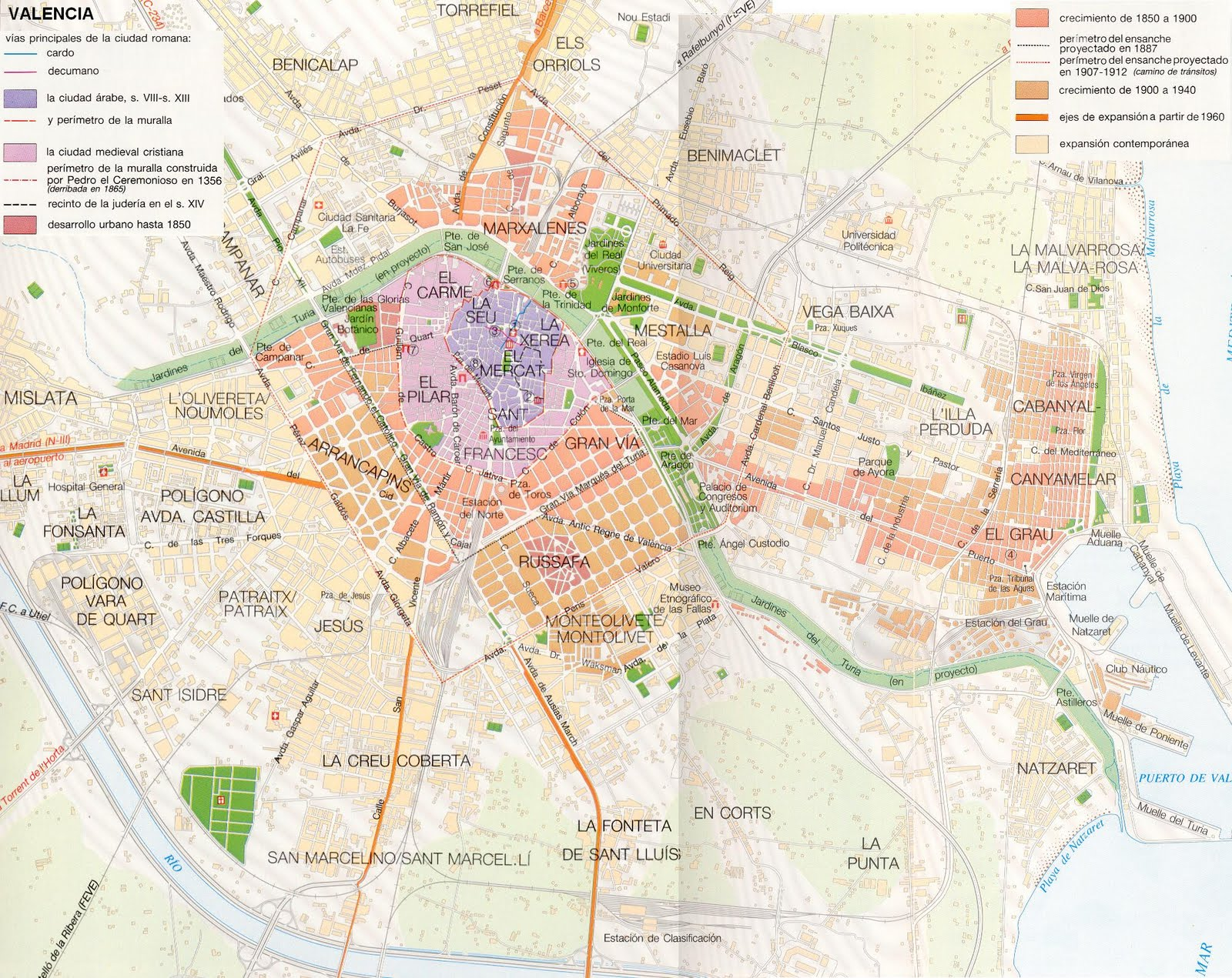 Tema 9 espacios urbanos y tur sticos geohistoria - Graficas madrid palma ...