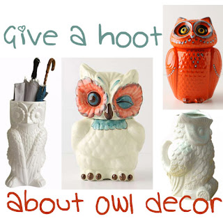 Home decor diy furnishings interior design and furniture for Owl decorations for the home
