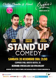 Stand-Up Comedy Sambata 28 Noiembrie Bucuresti