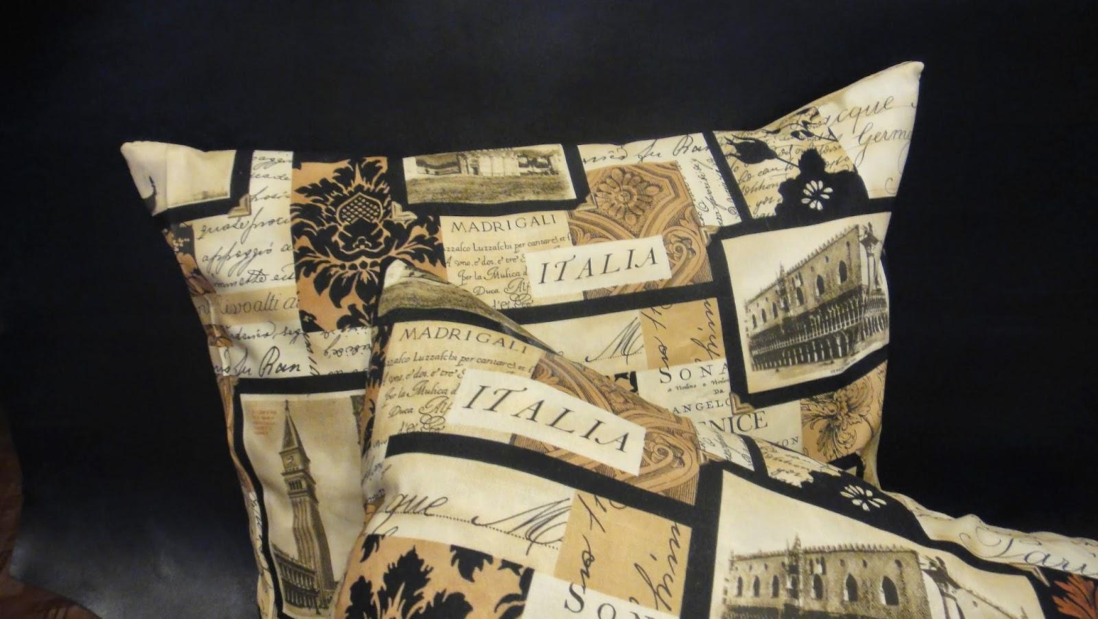 Декоративные подушки для офиса Италия: Миланский собор, Венецианская гондола, Пизанская башня