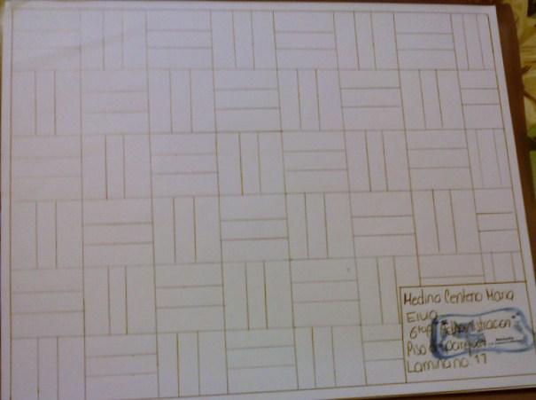 Dibujo tecnico lamina no 11 piso de parquet - Laminas de parquet ...