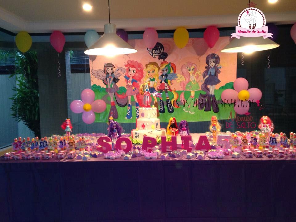 festa de aniversário tema Equestria Girls blog Mamãe de Salto