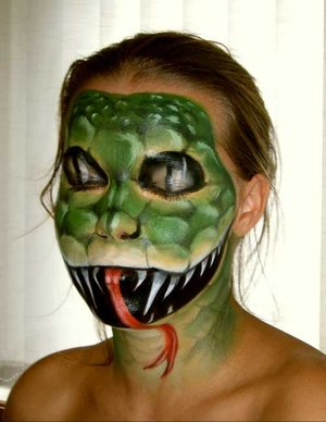 Airbrush Halloween Face Paint