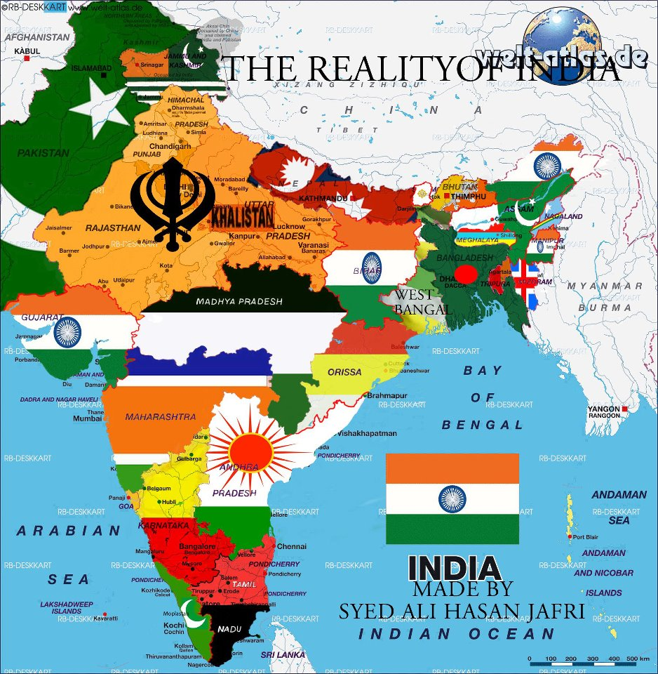 Map Of India Before 1947