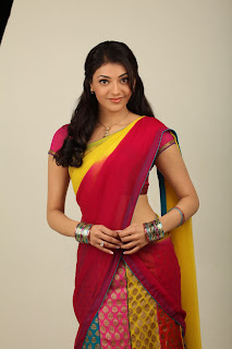 Kajal Aggarwal in COlorful Saree Spicy HQ Pictures Must See Beauty