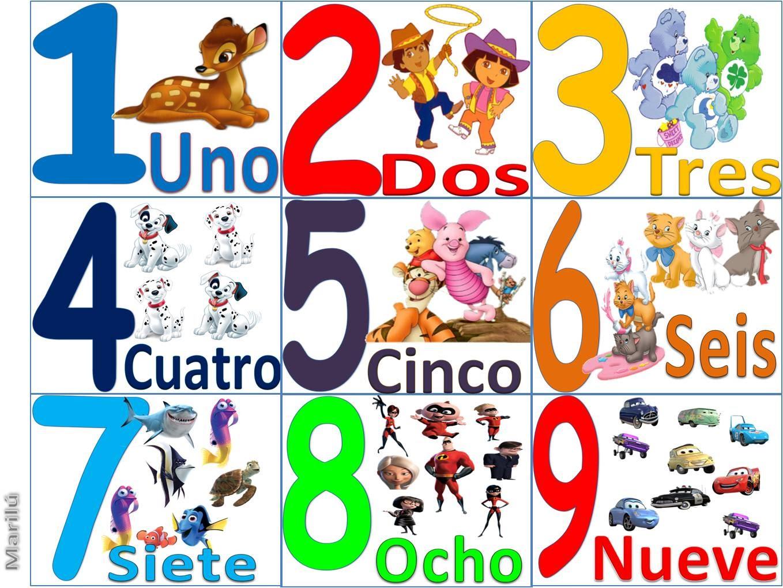 LAMINAS PARA COLOREAR - COLORING PAGES: Numeros para colorear de ...