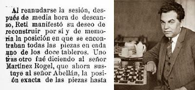 Sobre las simultáneas de Ricardo Reti, El Liberal, 29 de mayo de 1927 (2)