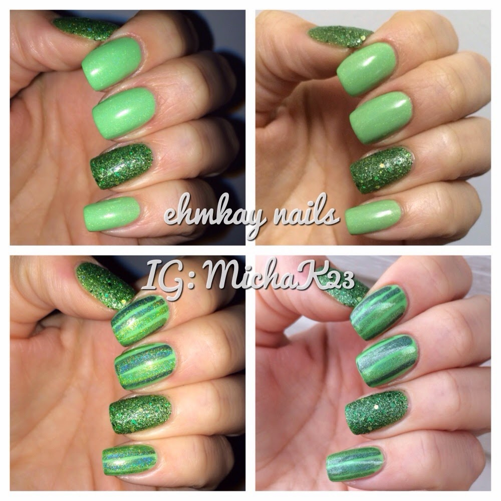 Ehmkay Nails Easy St Patricks Day Nail Art With Red Dog Designs