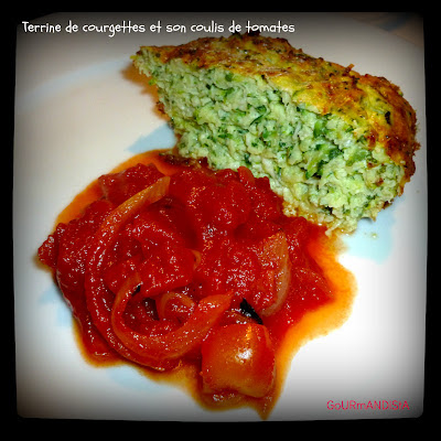 image Terrine de courgettes et son coulis de tomates