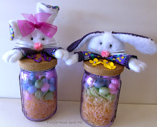Diy Easter Bunny Mason Jar Toppers