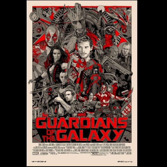 San Diego Comic-Con 2014 Exclusive Marvel's Guardians of the Galaxy Variant Screen Print by Tyler Stout
