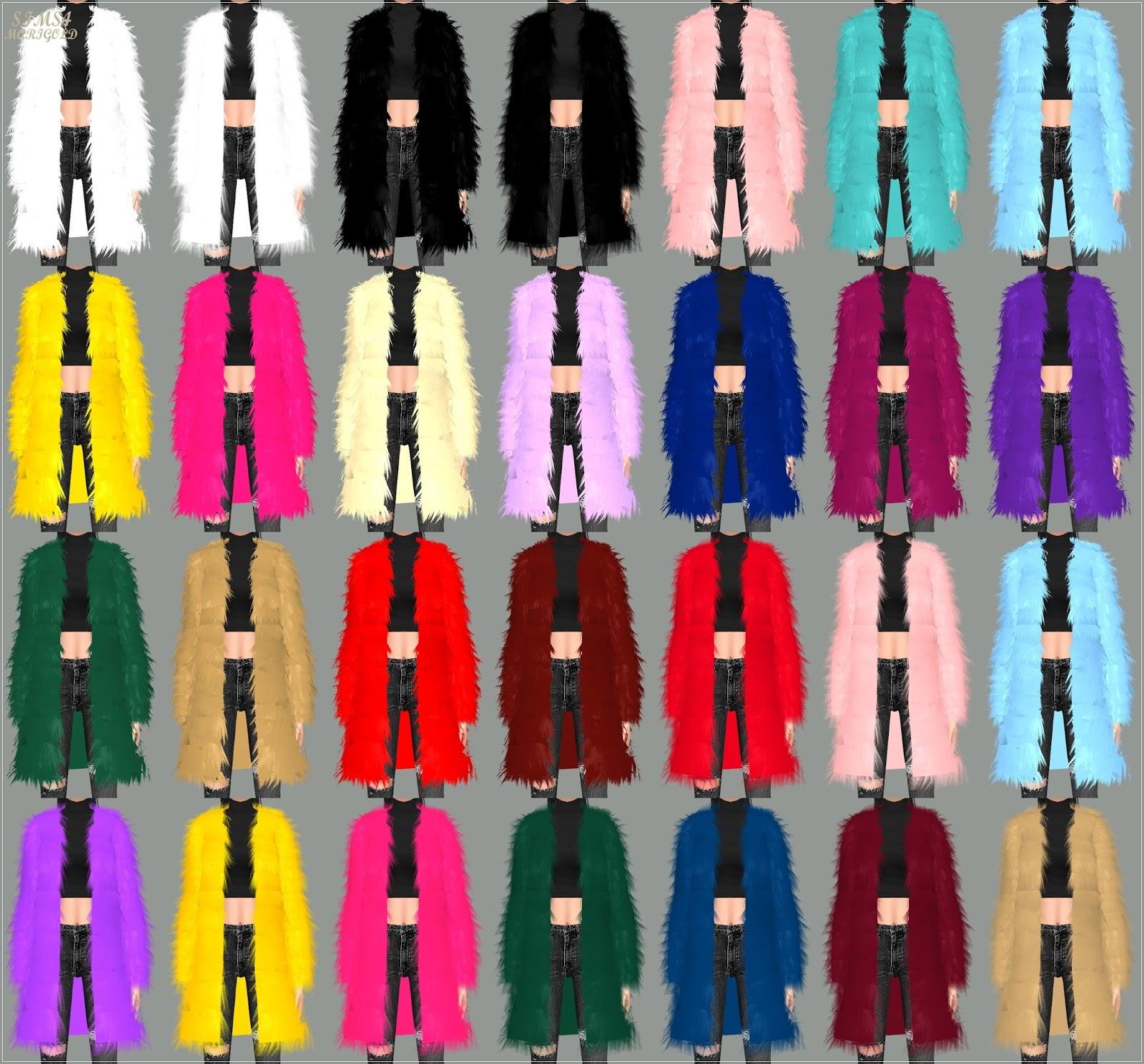 Sims 4 Fluffy Jacket Moderne Sch 246 Ne Jacken