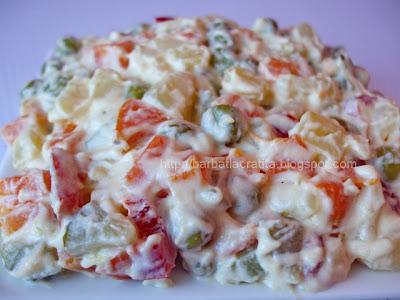 Salata de boeuf reteta