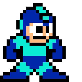 Megaman pixel art building idea