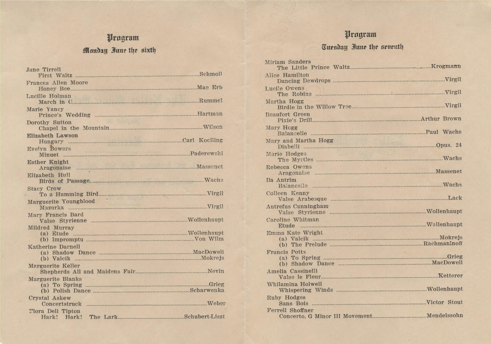 download vocal recital program template
