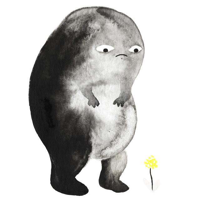 Inktober: dibujo a tinta, monstruito gordito