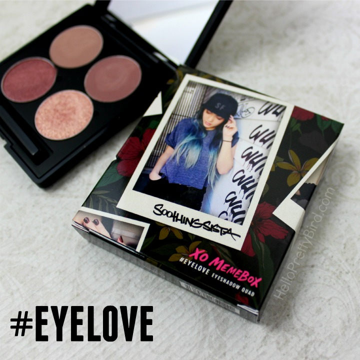 XO Memebox X Soothing Sista #EYELOVE SF Eyeshadow Quad