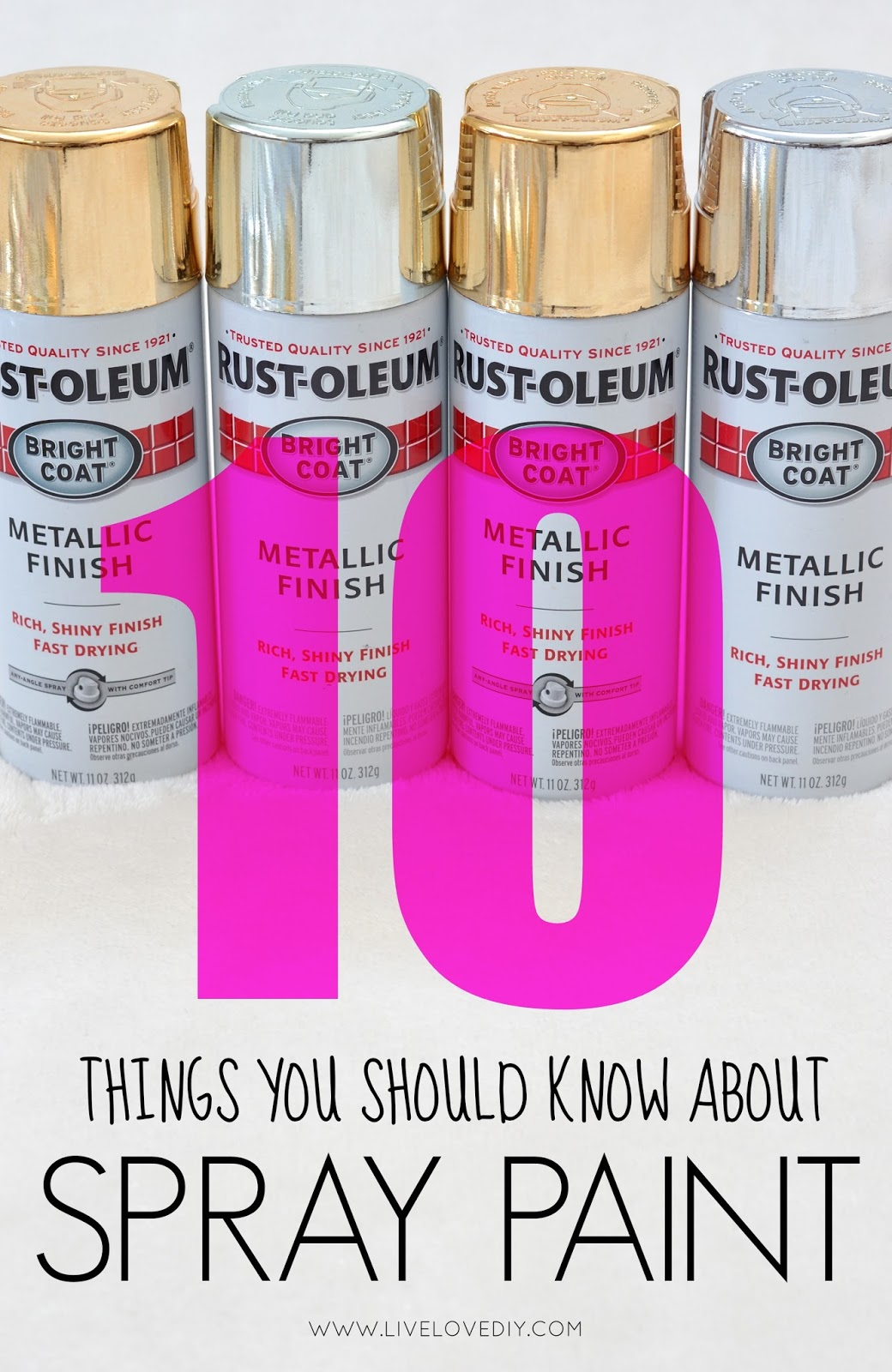 Livelovediy 10 spray paint tips what you never knew about spray paint check out part two of this post here arubaitofo Images