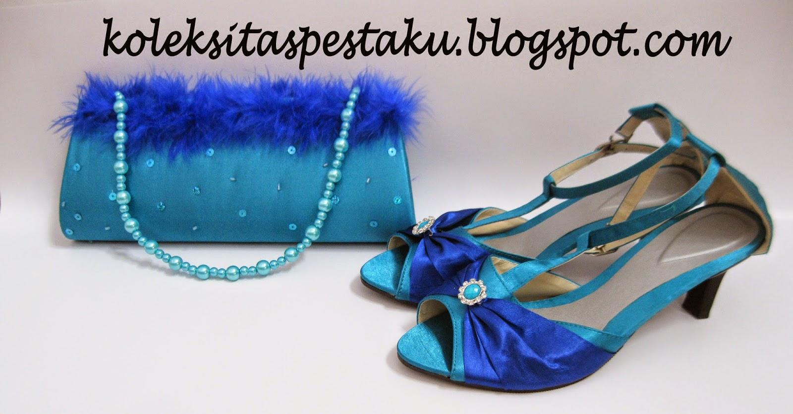 Model Terbaru Sepatu Pesta Biru Cantik Koleksi Tas Pesta Ku
