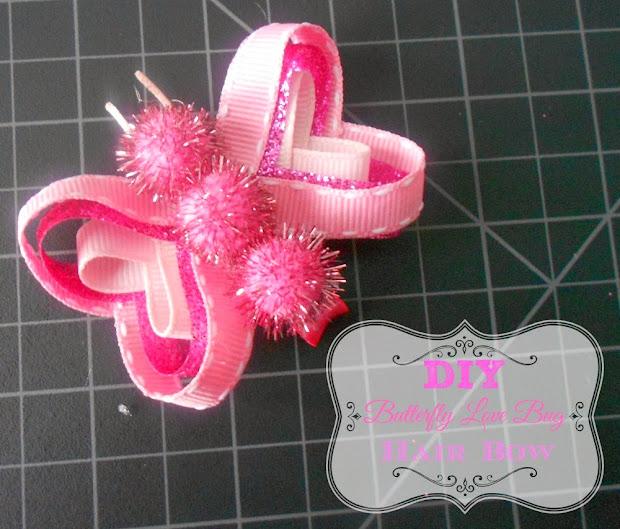 diy butterfly love bug hair bow