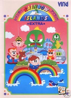 The Mega Drive version's box art spotlights the game's various islands