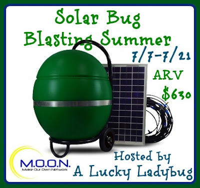 Enter the Solar Bug Blasting Summer Giveaway. Ends 7/21