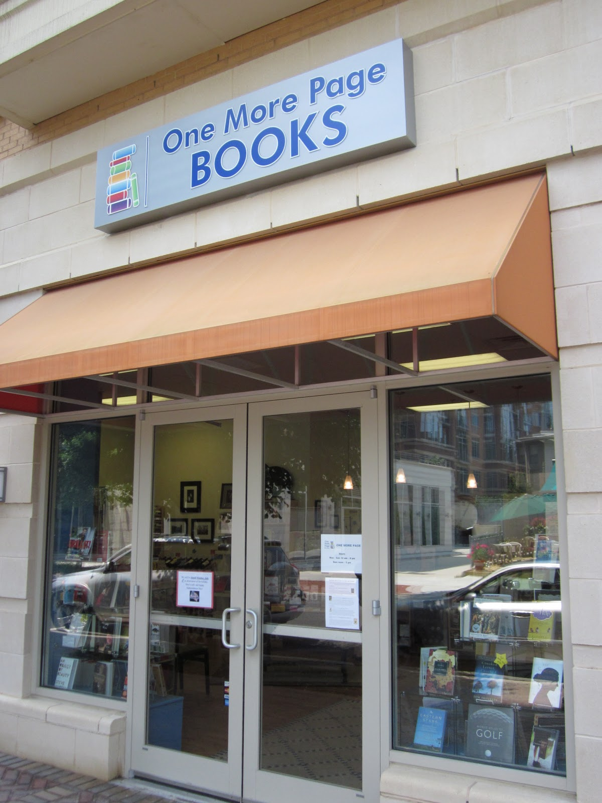 THE COMMITTEE ROOM: One More Page Books, A Newly Opened Bookstore