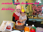 @7 april : contest 'cute bersama kek birthday'